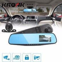 HD 1080 P 3,8 дюймов 140 угол Ночное видение зеркало заднего вида Камера регистраторы видео Регистраторы обратный резервный Камера