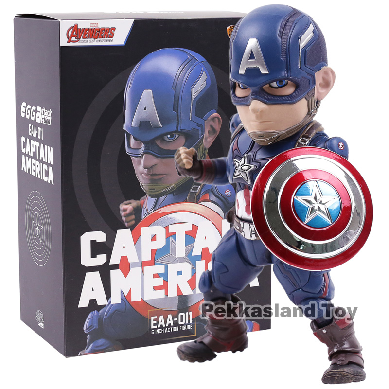Egg Attack Action EAA-011 Captain America PVC Action Figure Collectible Model ToyEgg Attack Action EAA-011 Captain America PVC Action Figure Collectible Model Toy