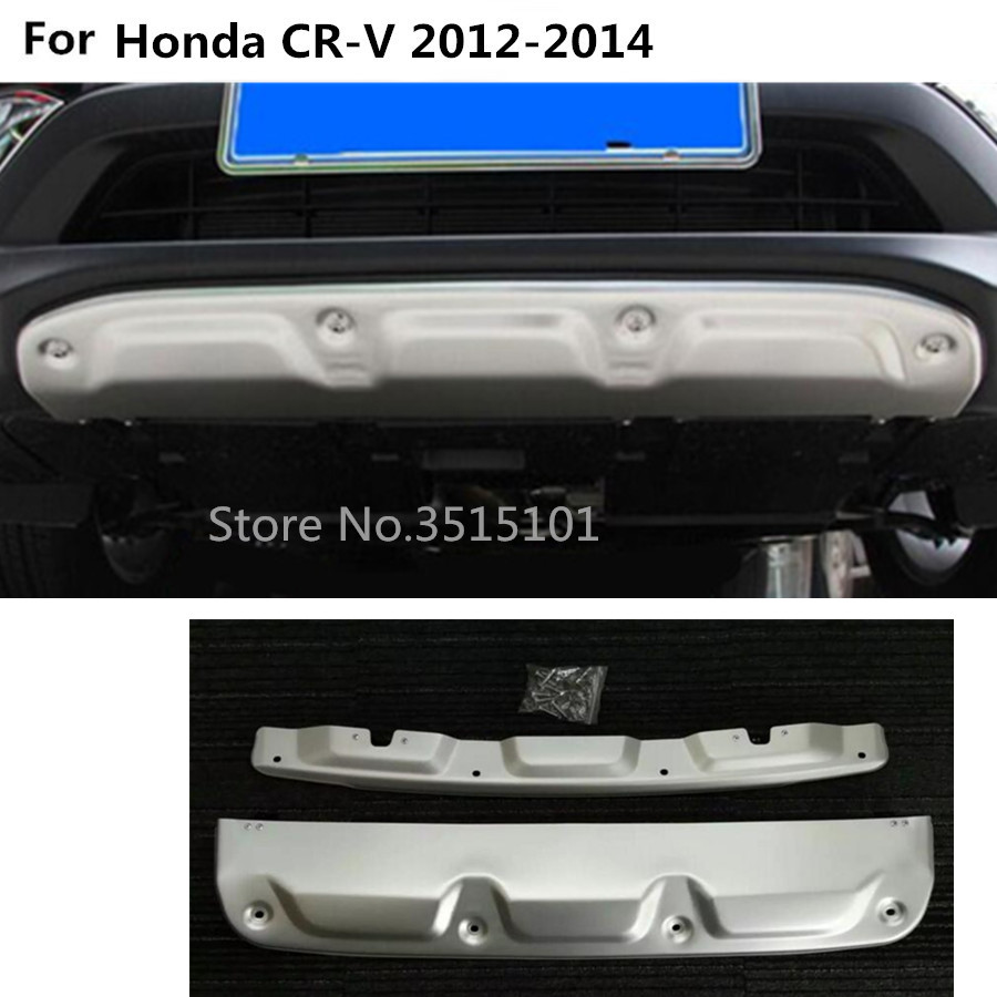 Car ABS chrome Front Back rear Bumper tailgate pedal Strip trim plate lamp threshold 2pcs For Honda CRV CR-V 2012 2013 2014 видеорегистратор mio mivue 518