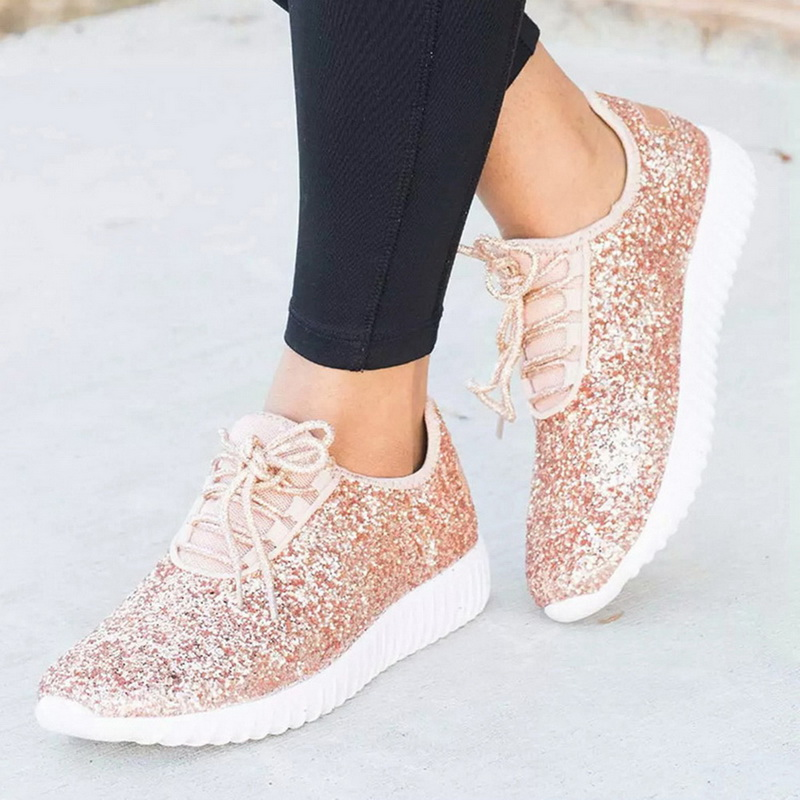 ladies glitter sneakers