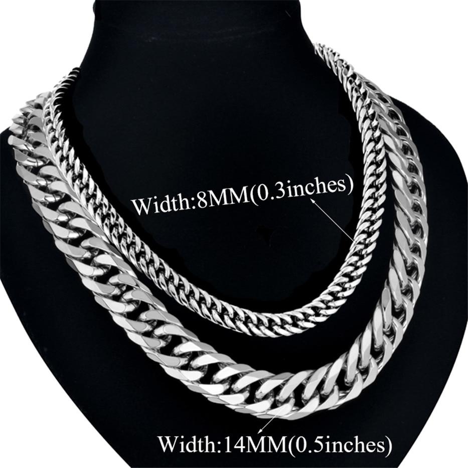 Mænds halskæde tykt guld / sølv farve rustfrit stål mandlige - Mode smykker - Foto 5