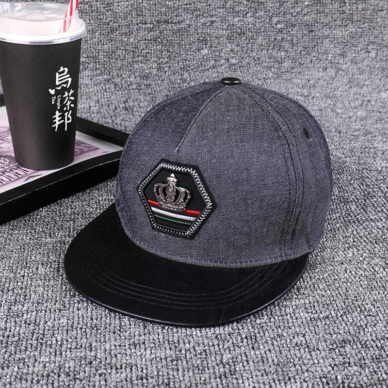 KING Crown Baseball Caps Mens Womens Snapback Hat Adjustable Hip Hop Hats Black Summer Peaked cowboy Crystal Sun Cap