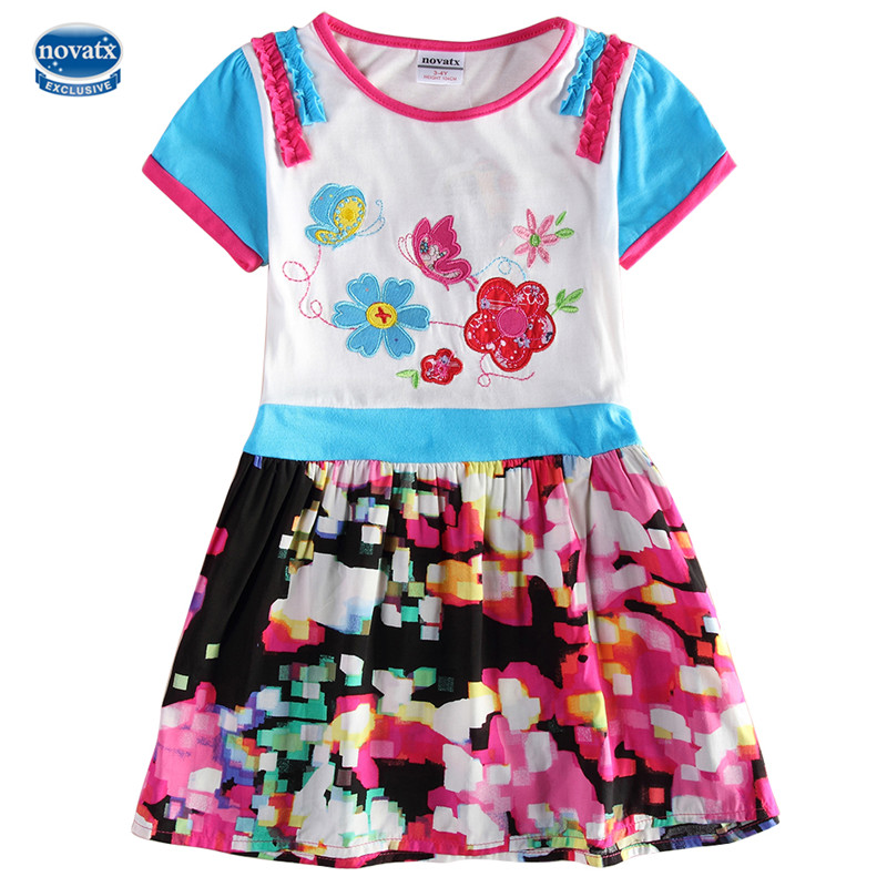 Kids dresses summer baby clothes retail nova factory direct sell fancy girl dresses high quality toddler frocks child clothes