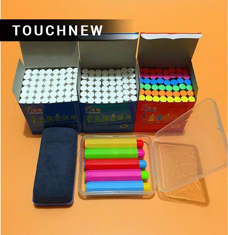 Hot Free shipping/Clean non-toxic environmental health bright chalk/The teacher in class dedicated dustless chalk/151001/2 Best 10pcs pack korea colorful chalk dust free chalk non toxic chalk