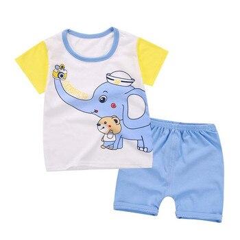 New Cartoon Summer Baby Boy Clothing Set T Shirt + Shorts Kid Boy Summer Set Children Boy Clothes Set Baby Clothing Sets