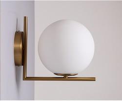 Nordic proste po-nowoczesny szklany kinkiet salon sypialnia restauracja korytarz ścienny mody twórczej lampa