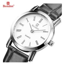 Bestdon WHBD007-11 Dial Redondo Reloj de Pulsera De Moda Reloj Resistente Al Agua Correa de Negro para Los Hombres