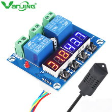 XH-M452 Digital Thermostat Hygrostat Temperature Humidity Controller Module DC12V LED Digital Display Dual Output