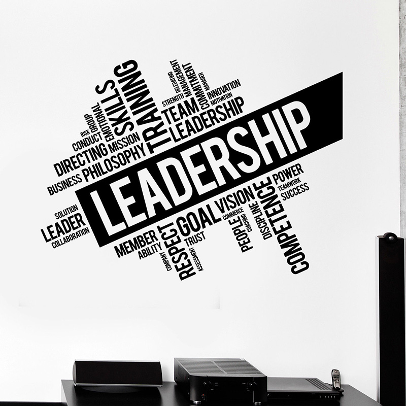 Leadership Words Wall Decals For Office Room Cloud Teamwork Success Wall Stickers Removable Office Window Decoration H125