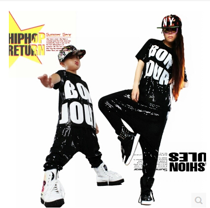 2015 New fashion Kids performance wear punk Trousers children sweatpants ds costume Personality sequins harem Hiphop dance pants - Sendu Mall store
