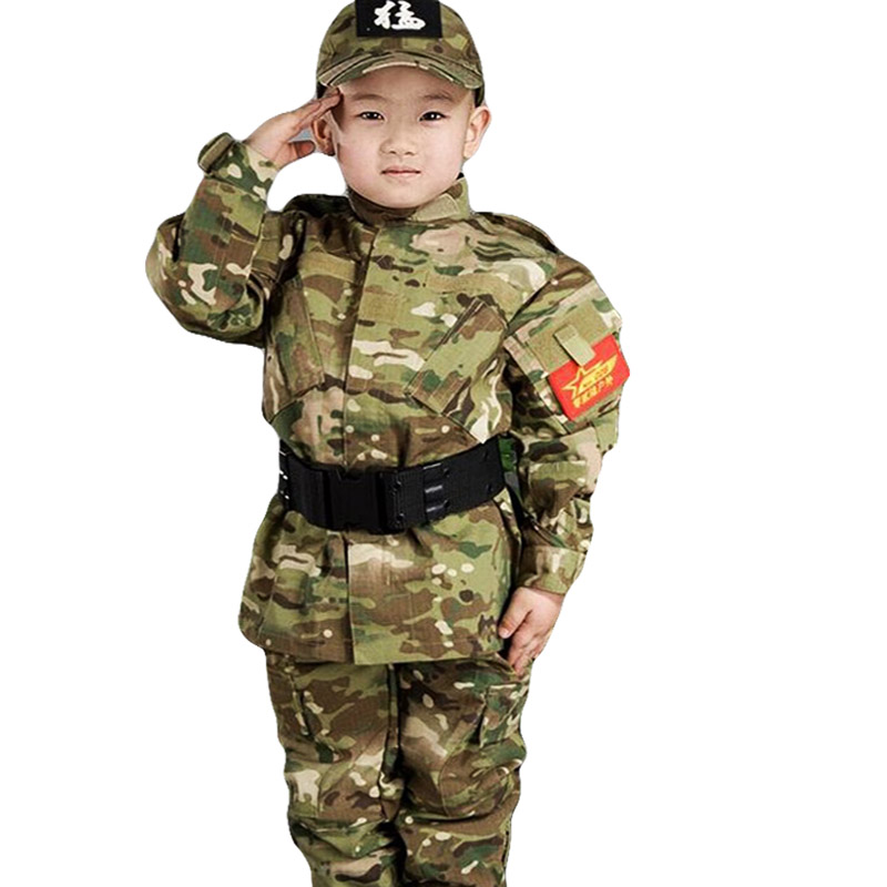 Kids Airsoft Military Tactical Uniform Sets Teenager Army Clothing Autumn  Winter Army Jacket Child Outdoor CS Clothing CAMO suit