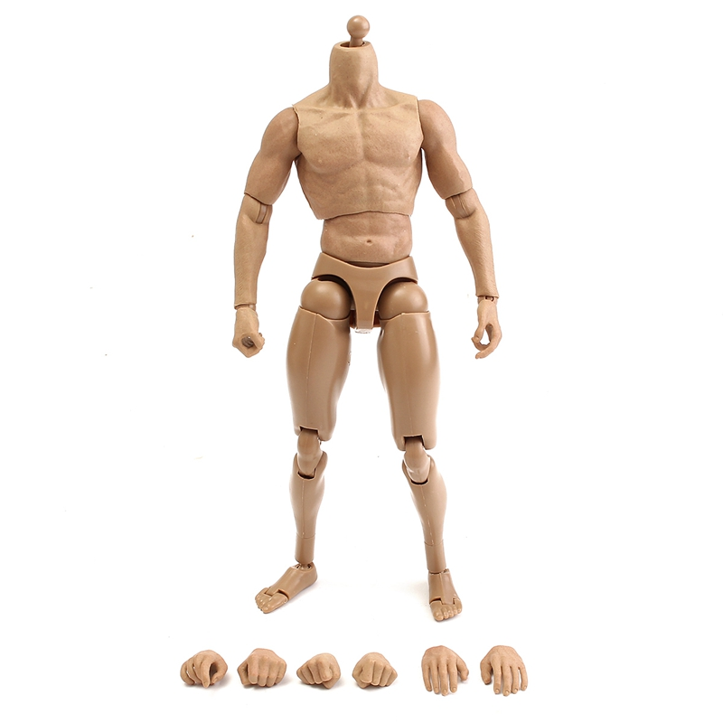 """New 1/6 Scale Action Figure Male Nude Shoulder Muscle Man Soldier Game Model Accessory Gift Toys for 12"""" Action Figure Toy"""