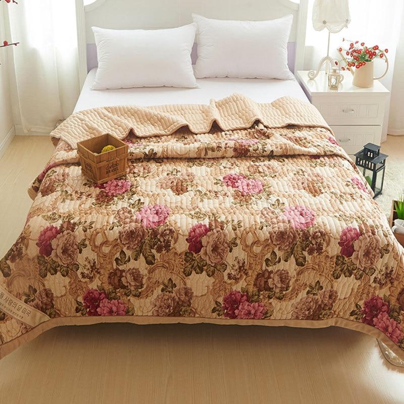 Patchwork Bedspread Floral Printing Polyester Bedspreads