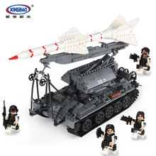 Xingbao 06003 Military Series 1623Pcs The SA-2 Guideline Set Building Blocks Bricks Children Educational Boy`s Toys Model Gifts lis lepin 31001 military egypt pharaoh series the scorpion pyramid children educational building blocks bricks toys model gifts