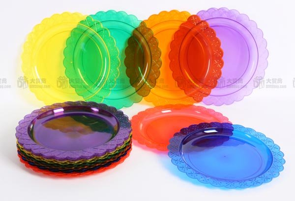Banquet plastic tray fruit tray cake plate saucer