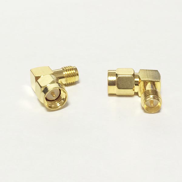1PC  SMA  Male Plug  switch RP-SMA  Female Jack  RF Coax Adapter convertor  Right Angle  Goldplated  NEW wholesale 2pcs lot yt70b rp sma male plug switch sma female jack rf coax adapter convertor connector straight goldplated sell at a loss