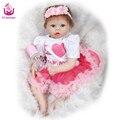 UCanaan 50-55 cm Segurança Silicone Renascer Boneca Brinquedos de Natal & Presente de Aniversário Para Seus Bebês e Encantador ou coleção