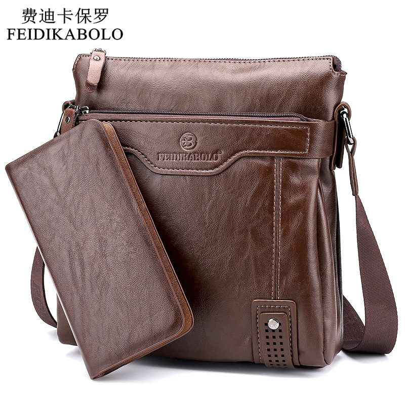 2018 New Arrival Hot Selling business casual leather man bag Fashion brown handbags and purses Casual men Messenger bag Wallets