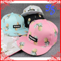 Fashion Pineapple Fruit Cap Snapback Women Men Sports Cap Hip Hop Peaked Cap