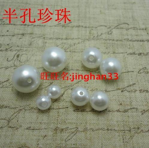 96468022afbd 6-12mm plástico de forma redonda blanca Cuentas ABS imitación perla DIY  Accesorios 300 unids lote envío libre