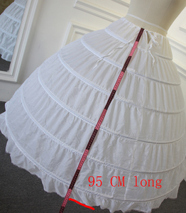 Image 2 - High Quality Petticoat 6 rings without tulle for ball gown wedding dress length 95cm