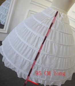 Image 2 - Hohe Qualität Petticoat 6 ringe ohne tüll für ballkleid brautkleid länge 95 cm