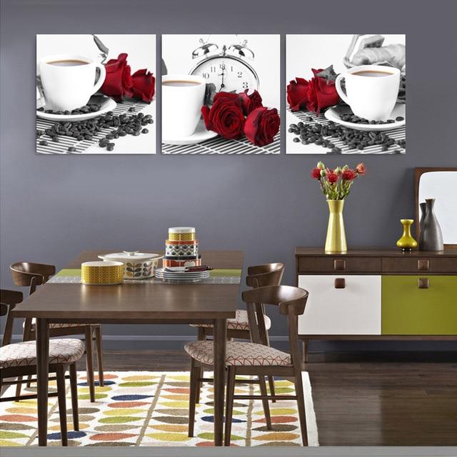 Kitchen Abstract Oil Paintings Triptych Painting Wall Art Bilder Canvas  Prints Tableau Peinture Sur Toile Moderne Abstrait