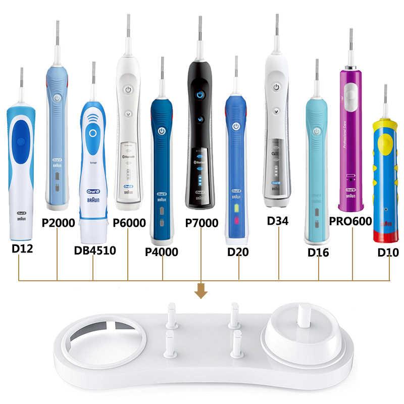 Elektryczne szczoteczki do zębów uchwyt stojak wsparcie z otworem ładowarki główki szczoteczek do zębów podstawa do Oral B D12 D20 D16 D10 D34