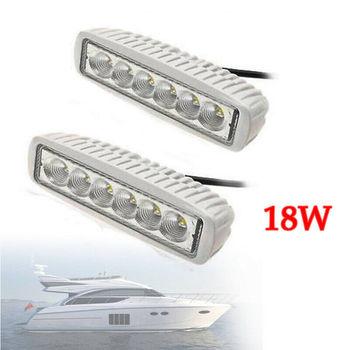 2x White Marine LED light 18w LED Boat Lights T-Top Lights (FLOOD BEAM) 4 x marine boat grade 12 volt large waterproof led courtesy lights blue white