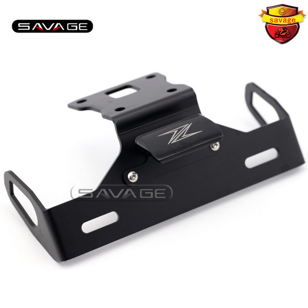 For KAWASAKI Z125 2015-2016 Black Motorcycle Tail Tidy Fender Eliminator Registration License Plate Holder Bracket LED Light motorcycle tail tidy fender eliminator registration license plate holder led light for kawasaki z125 125 2015 2016 free shipping