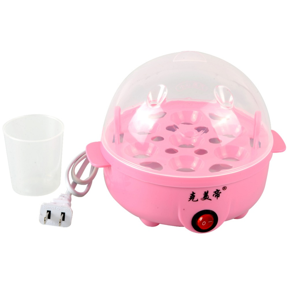 US Plug Multi-function Electric Egg Cooker for up to 7 Eggs Cooker Boiler Steamer Cooking Tools Kitchen Utensil IA343 T15 0.5