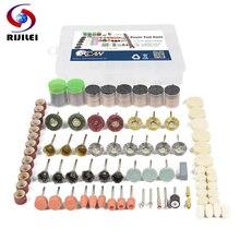 цена на RIJILEI 327PCS BIT SET SUIT MINI DRILL ROTARY TOOL & FIT DREMEL Grinding,Carving,Polishing tool sets,grinder head,Sanding Disc
