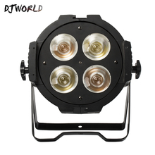 Djworld 4x50W Par Led COB Warm White Cool Spotlight DJ Light 4/8 DMX Channel Stage Disso Party Lights Family
