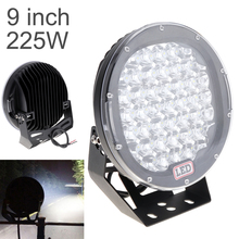 купить 9 inch LED Work Light Bar 225W LED Light Bar 12V 24V Spot / Flood For 4WD 4x4 Truck Trailer SUV Offroad Boat ATV дешево