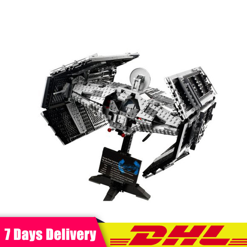 LEPIN 05055 1212PCS Star Wars Vader's TIE Advanced Starfighter Building Blocks Bricks Set Toys Compatible LegoINGlys 10175 new 1685pcs lepin 05036 1685pcs star series tie building fighter educational blocks bricks toys compatible with 75095 wars