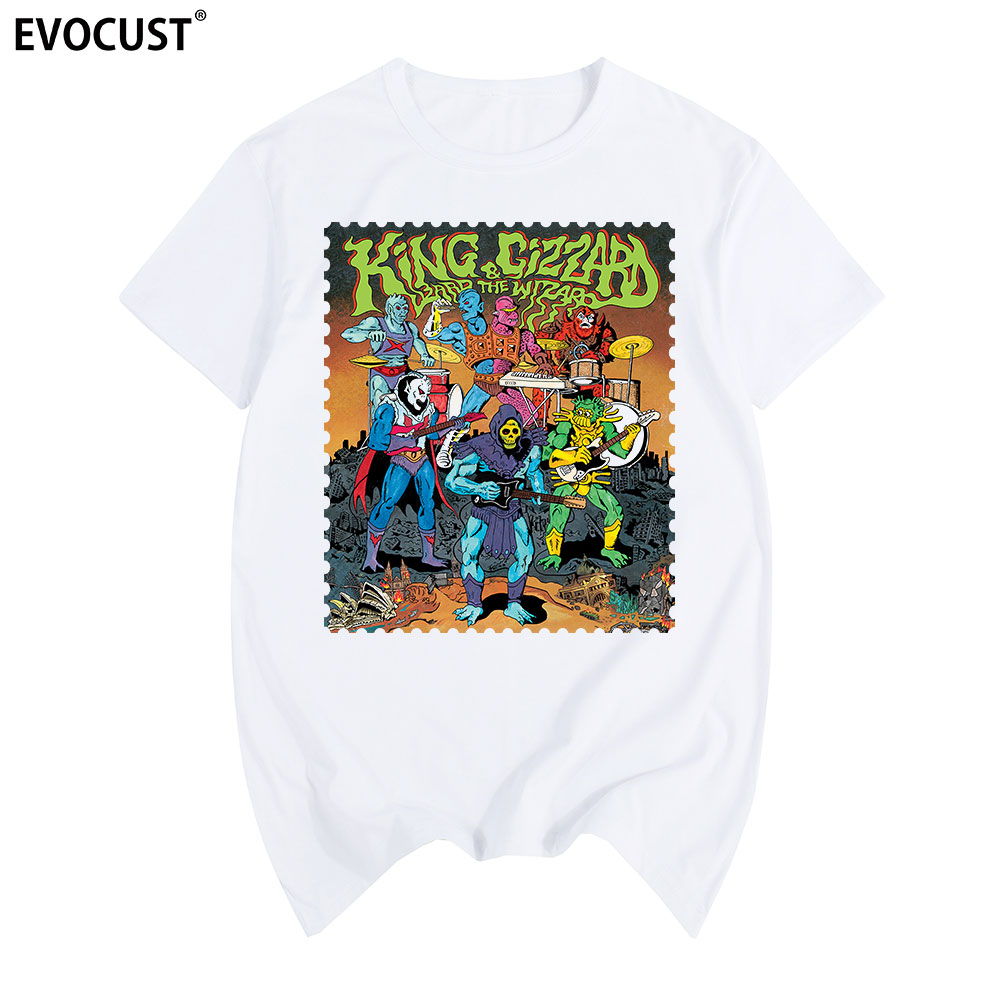 The Lizard Wizard Rock King Gizzard Concert T-shirt Men/'s Size S-XXXL Black Tees
