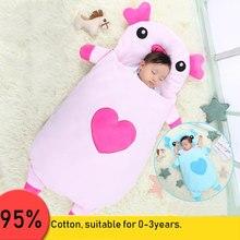 Поросенок Детские мультфильм спальный мешок новорожденных Коляски кровать пеленать Одеяло Обёрточная Бумага постельные принадлежности конверт Baby Slaapzak всесезонные Применение