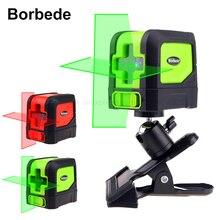 Boebede лазерный уровень Laser Level with 2 Red/Green Cross Lines Self-Leveling Adjustable Portable Mini