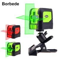 Boebede лазерный уровень Nível Laser com 2 Vermelho/Verde Linhas de Auto Nivelamento Cruz Ajustável Portátil Mini|Níveis de laser| |  -