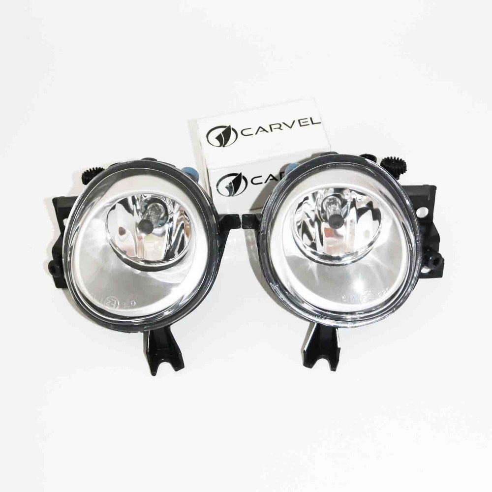 2Pcs For VW Touareg 2003 2004 2005 2006 2007 2008 2009 2010 Car Styling Halogen Front Bumper Fog Lamp Fog Light With Bulb dfla car light for vw passat b6 car styling 2006 2007 2008 2009 2010 2011 new front halogen fog light fog lamp