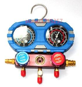 Image 2 - Refrigerante manometro, manometro di Alta qualità, prova di Scossa di pressione gauge, Aria condizionata refrigerante strumento