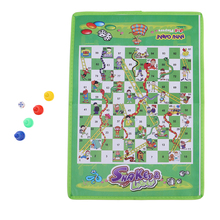 Non-woven Fabric Foldable Ludo Snake & Ladder Chess Board Game Dice with Family