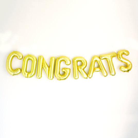 8 Pcs Congrats Ballons