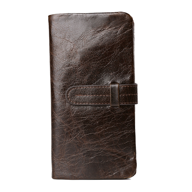 New brand  Genuine leather Men Wallet European&American Crazy Horse Leather Purse Card Holder Man Vintage zipper coin Wallets wallets genuine leather new 2015 casual men fashion european american coin purse style free shipping multifunctional bags b909