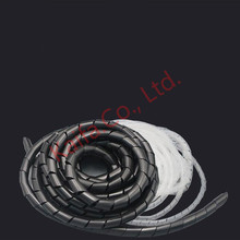 12mm 8m/rollHose protection wire case hose pipe cable finishing line with fixed bundle of wire Transparent Protection Wire Wind