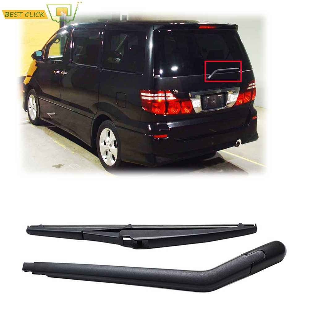 Misima Cam cam sileceği Bıçak Kolu Seti Toyota Alphard Için AH10 2002-2008 Arka pencere sileceği 2003 2004 2005 2006 2007