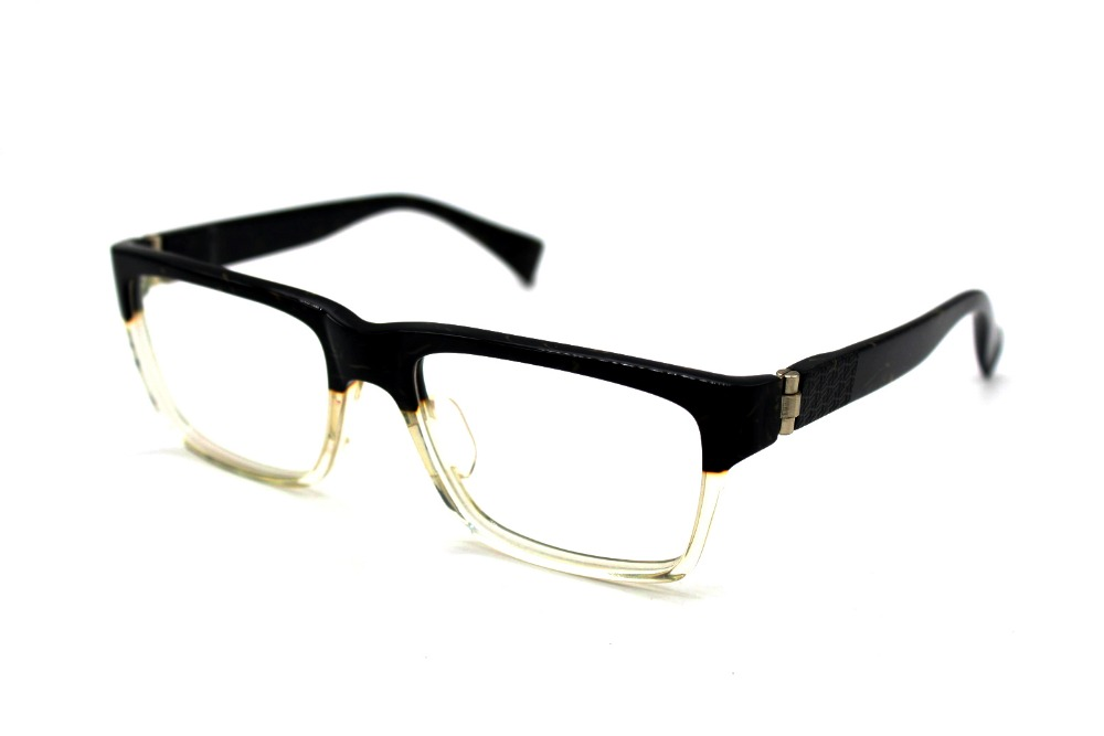 genuine high quality large black clear gradient hand made glasses frame custom made optical reading