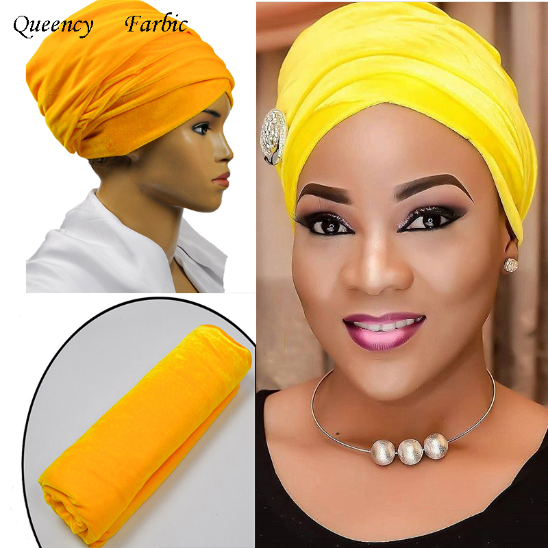 2017 New Fashion African solid headwrap and scarf, soft African Headtie, African turban, Women's Accessories, Women's Clothing