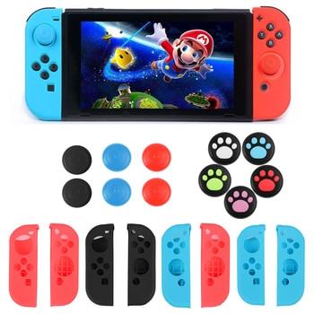 Nueva funda protectora antideslizante de silicona para Nintendo Switch Joy-Con tapa de palanca de mandos