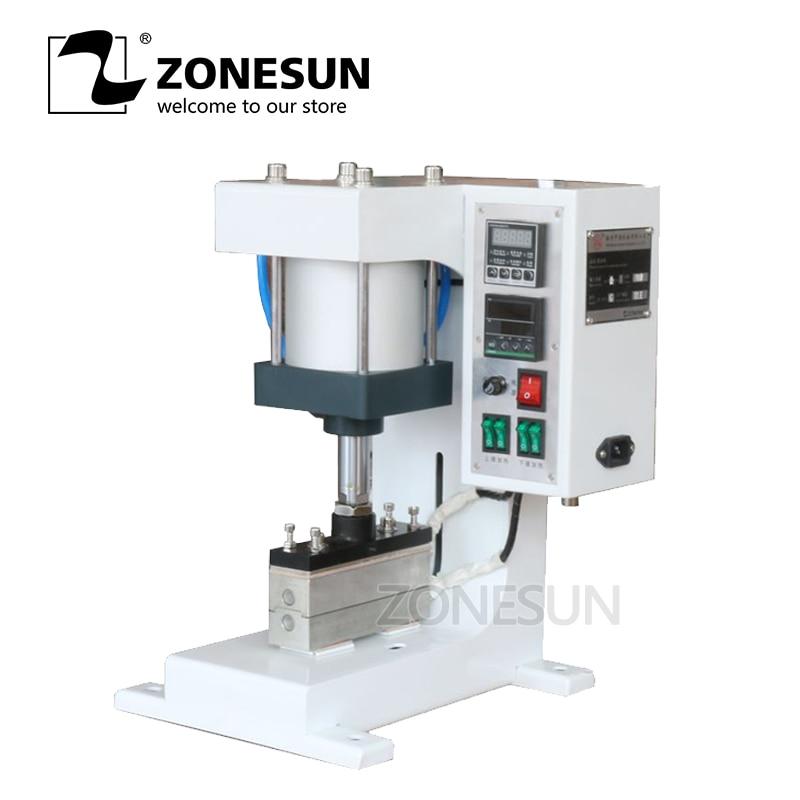 ZONESUN ZY 819 G Pneumatic Stamping Machine Leather LOGO Printer Pressure Words Machine Shoelace Flattening Machine